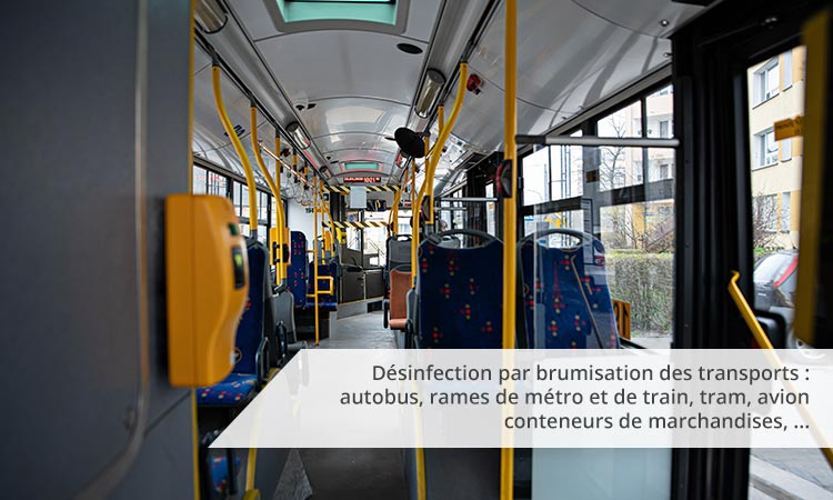 Désinfection d'un bus par brumisation