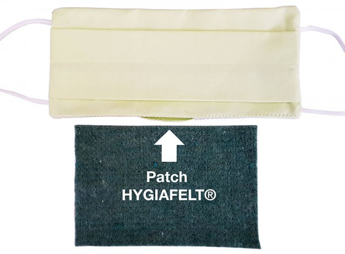 Patch biocide Hygiafelt® pour masque de protection individuel